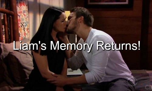 The Bold and the Beautiful (B&B) Spoilers: Liam Recovers Memory in Time to Stop Wyatt & Steffy Quickie Wedding