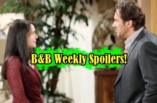 The Bold and The Beautiful Spoilers: Week of Feb 24 - Ridge and Quinn Steamy Hookup - Spectra Infiltrates FC - Bill Woos Brooke