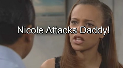 The Bold and the Beautiful (B&B) Spoilers: Nicole Attacks Dad for Sweeping Sister Under Rug – Sasha Spills Childhood to Zende