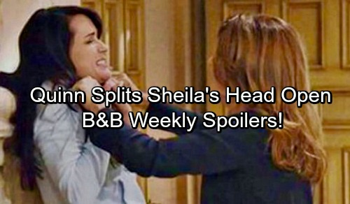The Bold and the Beautiful Spoilers: Week of August 14 – Sheila Injured Fighting With Quinn - Eric Invites Sheila To Move In