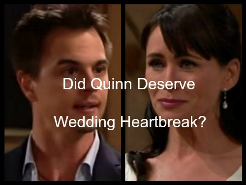 The Bold and the Beautiful Spoilers: Did Quinn Deserve Wyatt Breaking Her Heart on Wedding Day
