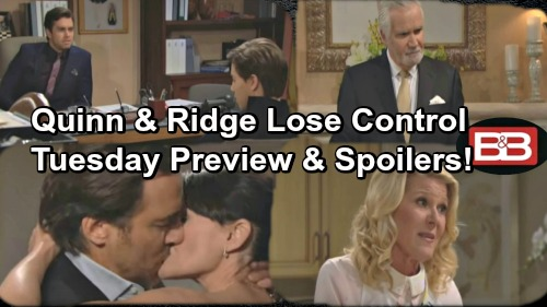 The Bold and the Beautiful Spoilers: Quinn and Ridge Can't Escape Fate, Passion Breaks Lose – Thomas and RJ Agree on Coco