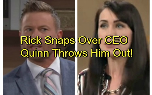 The Bold and the Beautiful Spoilers: Rick Explodes When Steffy Named CEO, Attacks Eric - Quinn Throws Ranting Rick Out