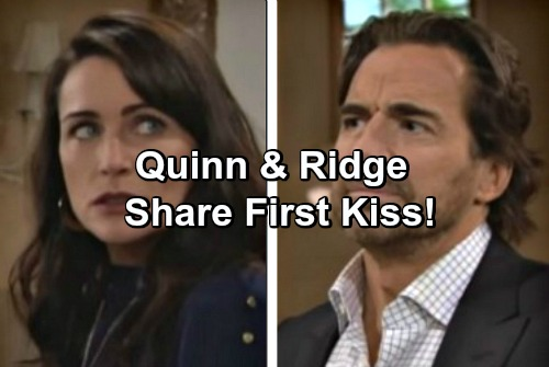The Bold and the Beautiful Spoilers: Ridge and Quinn Share First Kiss - How Far Do They Go?