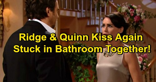 The Bold and the Beautiful Spoilers: Ridge and Quinn Kiss Again At Brooke's Engagement Party, Get Stuck In Bathroom