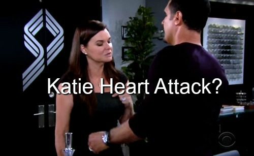 The Bold and the Beautiful (B&B) Spoilers: Does Katie's Outrage Indicate a Looming Medical Crisis - Heart Failing?