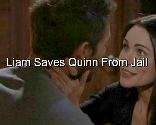The Bold and the Beautiful (B&B) Spoilers: Liam Saves New Love Quinn from Jail Time for Kidnap Crime, Steffy Furious