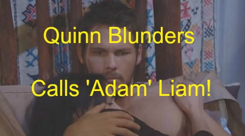 The Bold and the Beautiful (B&B) Spoilers: Quinn Blunders, Uses Liam's Real Name - Adam and Eve Plot Unravels