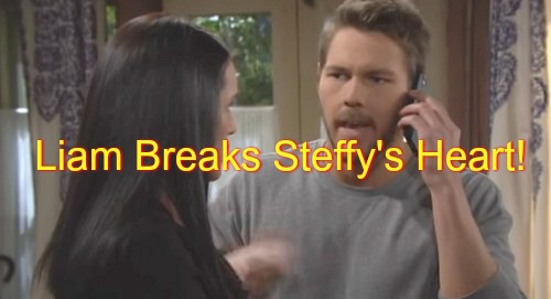 The Bold and the Beautiful (B&B) Spoilers: Liam Tells Steffy To Never Call Again - Thomas Makes Up, Caroline Medical Emergency