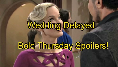 The Bold and the Beautiful Spoilers: Brooke Late For Wedding, Fighting With Ridge - Bill Gets Angry and Suspicious