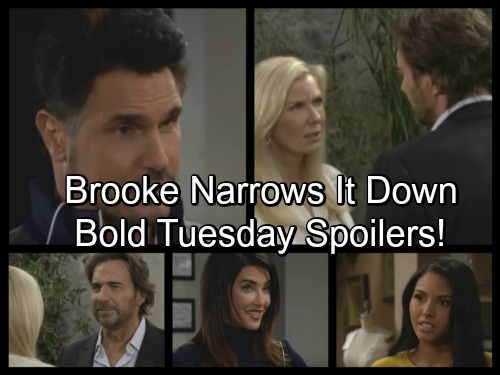 The Bold and the Beautiful Spoilers: Ridge Makes Progress With Brooke, Bill Boasts To Steffy - Nicole Blasts Sasha for Betrayal