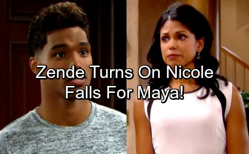 The Bold and the Beautiful Spoilers: Zende Turns His Back on Nicole, Falls for Heartbroken Maya