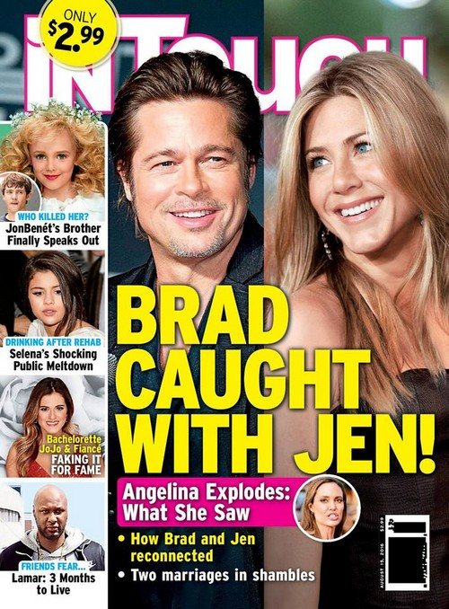 from Alvin jennifer aniston comments on brad pitt being gay