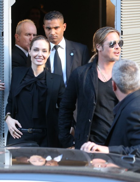 Angelina Jolie Bans Brad Pitt's Friends Quentin Tarantino And Jonah Hill From The Wedding! 0614