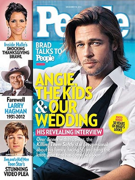 """Brad Pitt Says Dealing With Angelina Jolie and Six Kids """"Made A Man Out Of Me"""""""