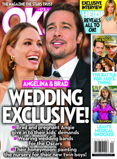 With Twin Boys On The Way, Brad Pitt And Angelina Jolie Are Done 'Teasing' About Their Wedding And Are Actually Making Plans! (Photo)