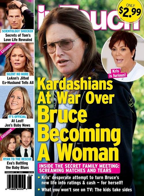 Kris Jenner and Kim Kardashian Fighting Over Bruce Jenner's Transgender Sex Change To A Woman