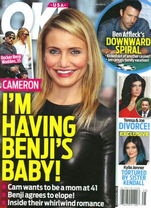 Cameron Diaz Pregnant With Benji Madden's Baby - Report