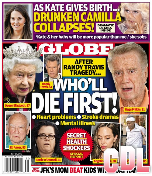 GLOBE: Kate Middleton's Giving Birth To The Royal Heir Has Camilla Parker-Bowles Drunk and Nasty (Photo)