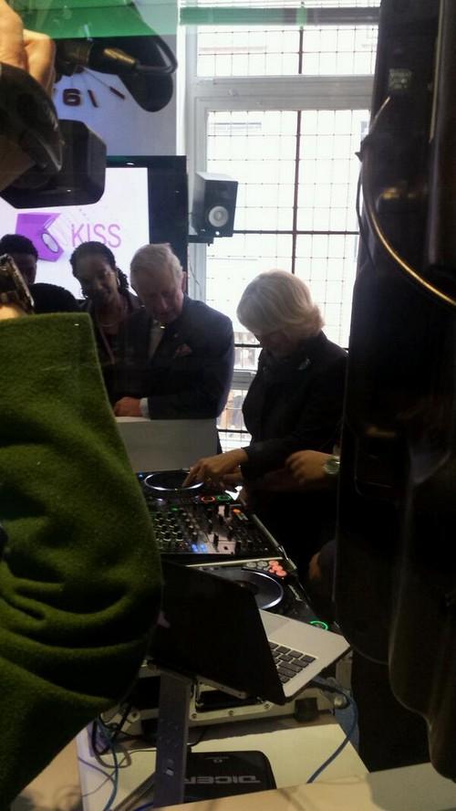 Prince Charles Wants Spice Girls While Camilla Parker-Bowles DJ's at KISS FM Radio Station (PHOTOS)