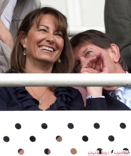 Carole And Peter Middleton Watching The Reading v Cardiff Playoff (USA & OZ/NZ ONLY)