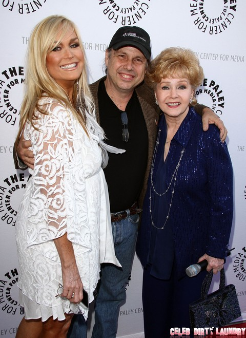 Debbie Reynolds with daughter Carrie Fisher and granddaughter Billie Lourd in Beverly Hills