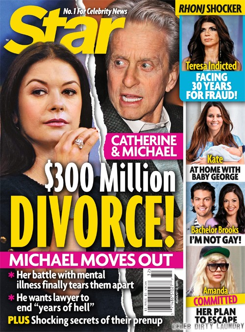 Michael Douglas and Catherine Zeta-Jones Divorce: $300 MIllion Battle (PHOTO)