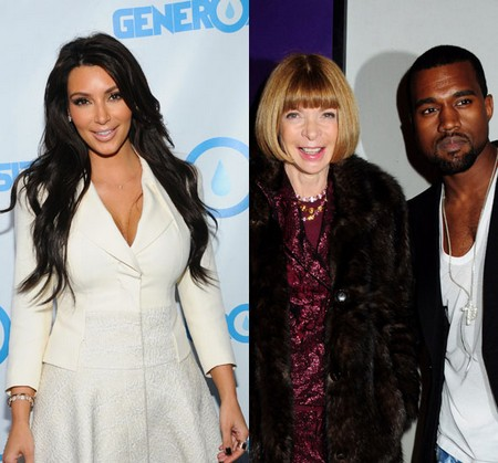 Vogue`s Anna Wintour Ignores Kim Kardashian But Welcomes Kanye West