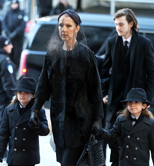 Celine Dion Will Never Marry Again Following Death of Rene Angelil - Funeral Photos
