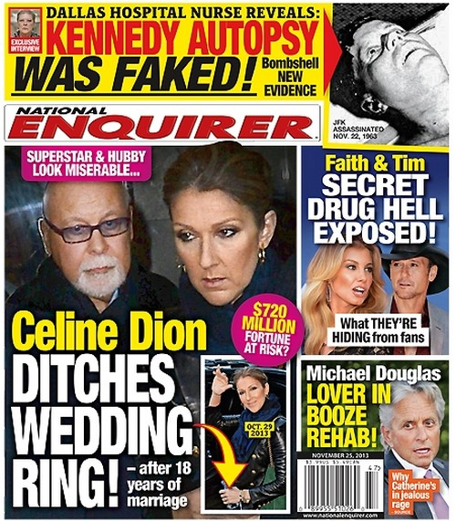 Celine Dion and Rene Angelil Split: Wedding Ring Off as Marriage Hits the Skids (PHOTO)