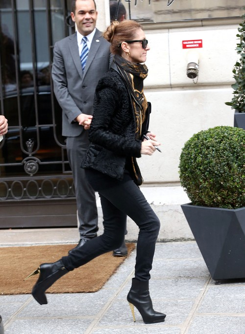 Celine Dion Spotted Without Wedding Ring or Rene Angelil, Separation Rumors Grow as Celine Looks Exhausted and Sad (PHOTOS)