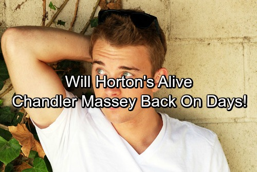 Chandler Massey CONFIRMS Days of Our Lives (DOOL) Return