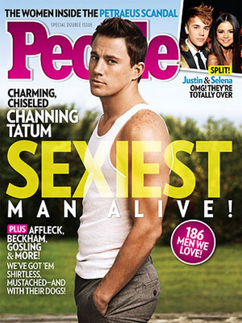 Charming, Chiselled Channing Tatum -  The Sexiest Man Alive!