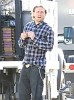 Charlie Hunnam Rolls A Joint On Set
