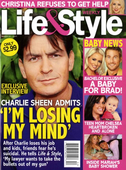 Charlie Sheen Admits To Losing His Mind