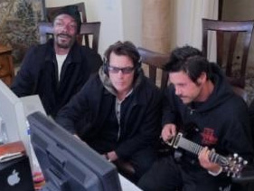 Snoop Dogg And Charlie Sheen Hook Up In Recording Studio