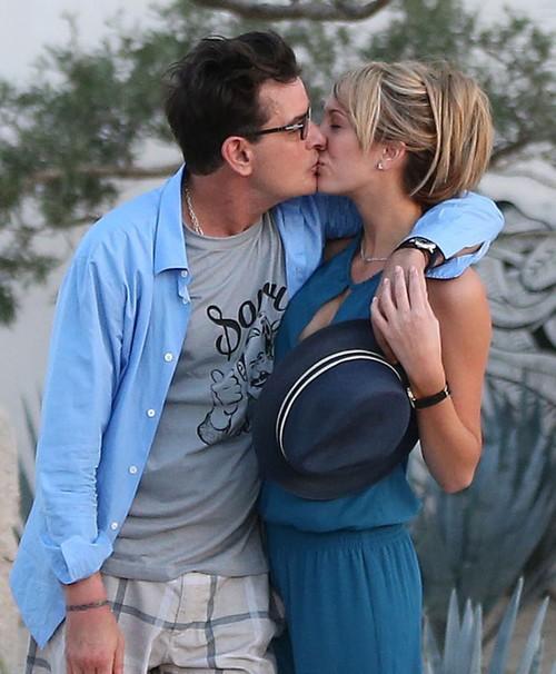 Charlie Sheen and Brett Rossi Engaged: Valentine's Day Heart-Shaped Diamond Engagemen