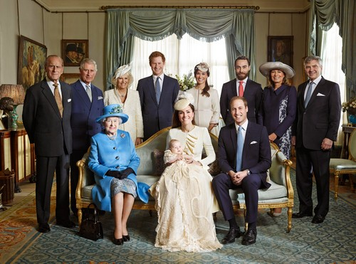 Prince George's Official Christening Royal Family Photos