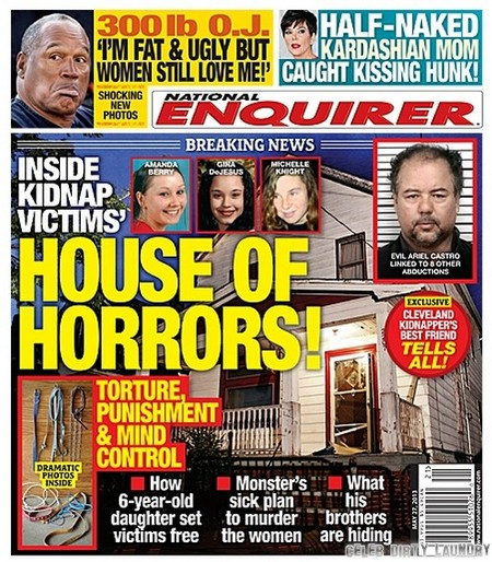 Ariel Castro & Cleveland House Of Horrors Cover The National Enquirer (Photo)