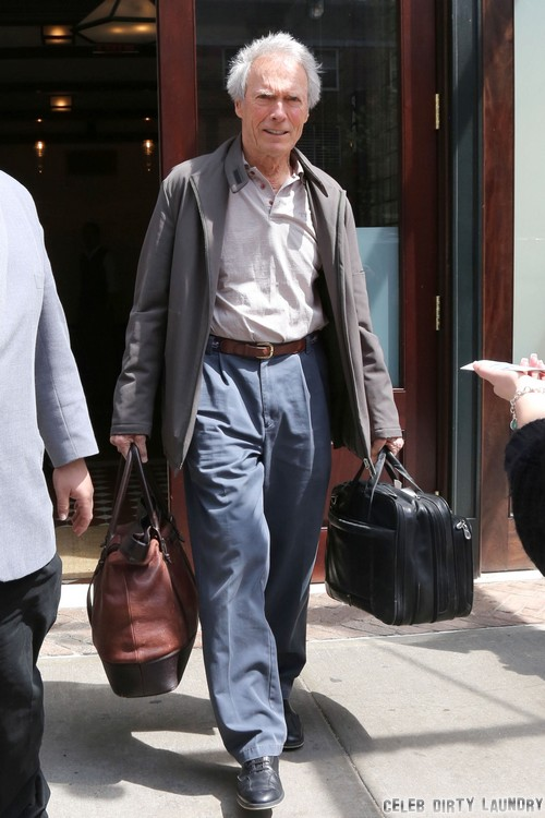 Clint Eastwood Leaving His Hotel In NYC
