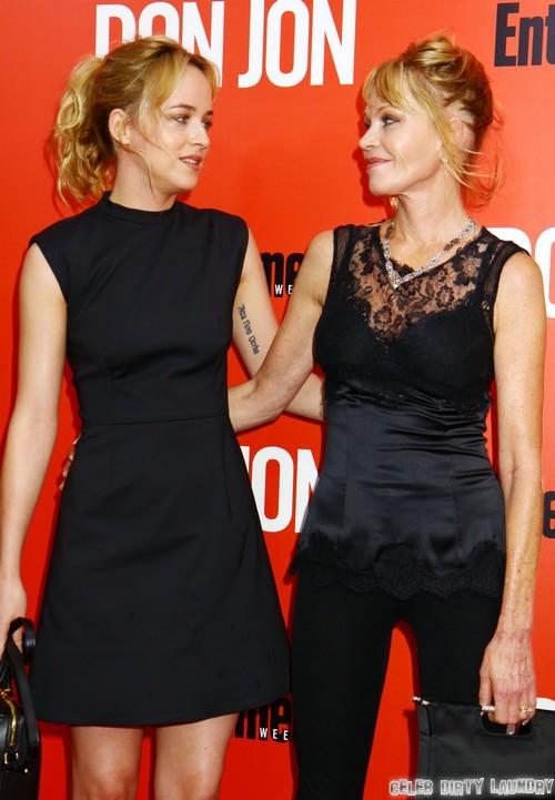 Dakota Johnson Will Fall Off The Wagon Dealing With Fifty Shades of Grey Movie Backlash - Melanie Griffith and Don Johnson Fear Rehab Again