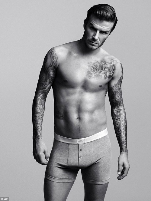 david beckham s crotch stuffed to ehance his bulge during