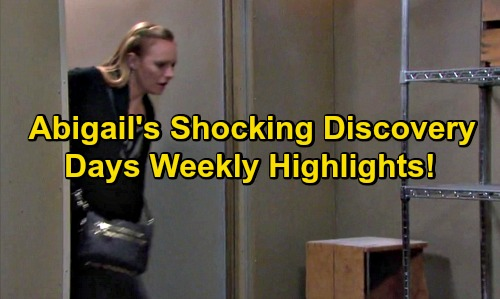 Days of Our Lives Spoilers: Abigail Shocked, Catches Gabi and Chad In Their Underwear – Confession Leads to Major Meltdown
