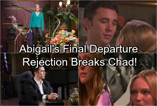 Days of Our Lives Spoilers: Abigail Rejects Chad's Magical Night, Quits DiMera Enterprises – Applies For Police Job