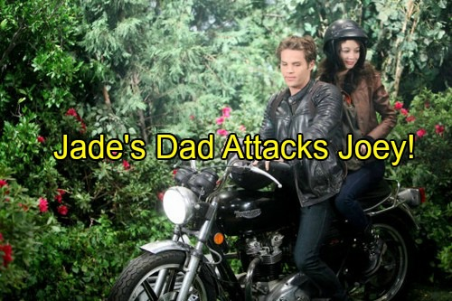 'Days of Our Lives' Spoilers: Jade's Dad Explodes in Rage, Catches Joey Kissing Daughter - Joey Deals With Killer Instinct