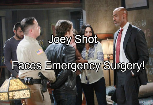 Days of Our Lives (DOOL) Spoilers: Joey Shot in Hostage Situation – Rushed to Hospital for Life or Death Surgery