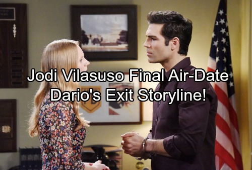 Days of Our Lives Spoilers: Jordi Vilasuso's DOOL Exit Date and Details - Dario Enters Witness Protection Program