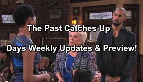 Days of Our Lives Spoilers: Updates Week of March 6 - Eli Forces Valerie to Confess – Steve Tells Kayla Son with Ava Alive