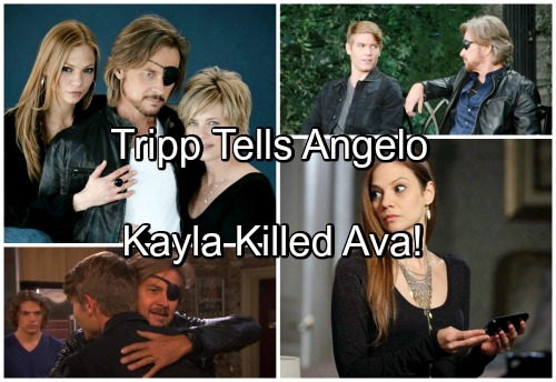 Days of Our Lives Spoilers: Tripp Tells Angelo Kayla Killed Ava, Shocking Consequences Result