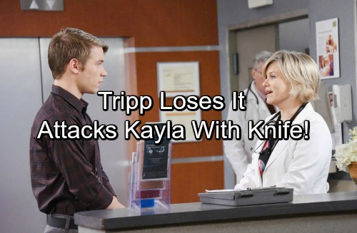 Days of Our Lives Spoilers: Tripp Loses It, Threatens Kayla with a Weapon – Stepson Ready to Attack Over Ava's Murder